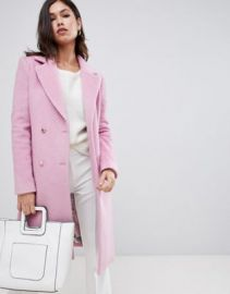 Ted Baker Saffra Chevron Wool Midi Coat at asos com at Asos