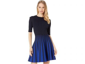 Ted Baker Salyee Short Sleeve Knitted Skater Dress at Zappos