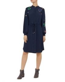 Ted Baker Ted Baker Colour by Numbers Dioss Embroidered Shirt Dress Women - Bloomingdale s at Bloomingdales