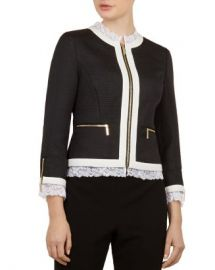 Ted Baker Ted Baker Working Title Ennio Lace-Trimmed Jacket Women - Bloomingdale s at Bloomingdales