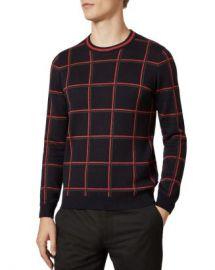 Ted Baker Triton Check Crewneck Sweater Men - Bloomingdale s at Bloomingdales
