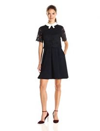Ted Baker Women s Dixxy Lace Bodice Double Layer Dress at Amazon