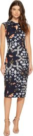 Ted Baker Womens Kairra Kyoto Gardens Bow Neck Dress at Amazon