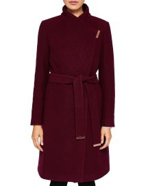 Ted Baker Zetea Textured Long Wrap Coat at Bloomingdales