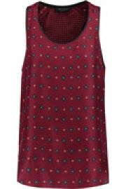 Teddy printed washed-silk tank at The Outnet