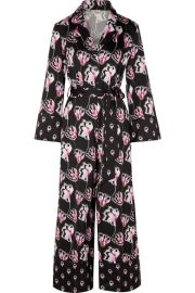 Temperley London - Dragonfly cropped printed satin jumpsuit at Net A Porter