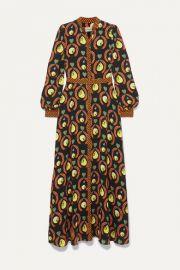 Temperley London - Rosella printed crepe maxi dress at Net A Porter