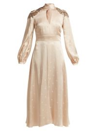 Temperley London Parachute sequinned satin dress at Matches