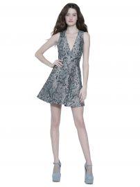 Tennie V Neck Party Dress by Alice + Olivia at Alice + Olivia