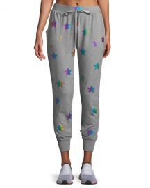 Terez Star Foil Printed Jogger Pants at Neiman Marcus