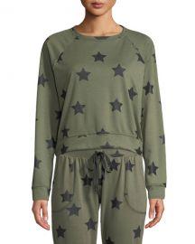 Terez Star-Print Crewneck Pullover Sweatshirt at Neiman Marcus