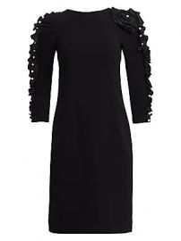 Teri Jon by Rickie Freeman - Embellished-Sleeve Cocktail Dress at Saks Fifth Avenue