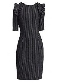 Teri Jon by Rickie Freeman - Pinstripe Sheath Dress at Saks Fifth Avenue