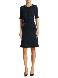 Teri Jon by Rickie Freeman - Short Sleeve Tailored Sheath Dress at Saks Fifth Avenue