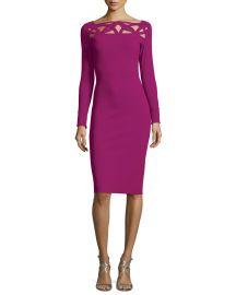 Terrie Long-Sleeve Cutout Jersey Dress in La Petite Robe di Chiara Boni at Neiman Marcus