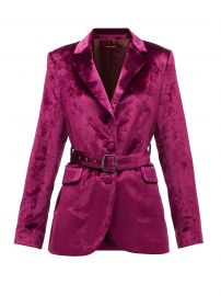 Terry Belted Crushed-Velvet Blazer by Sies Marjan at Matches