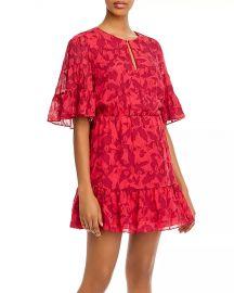 Tersea Silk-Blend Embroidered Ruffled Mini Dress at Bloomingdales