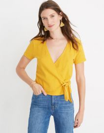 Texture & Thread Wrap-Tie Top at Madewell