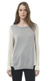Textured Blocked Pullover at Rebecca Taylor