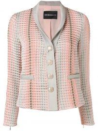 Textured Button Blazer at Farfetch