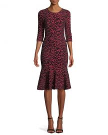 Textured Leopard Mermaid Dress by Milly at Last Call