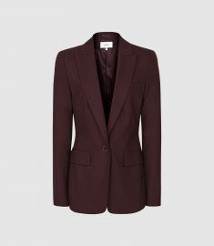 Textured Single Breasted Blazer at Reiss