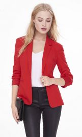 Textured knit blazer at Express