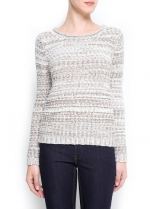 Textured sweater at Mango at Mango