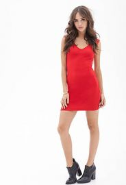 Textured vneck dress at Forever 21