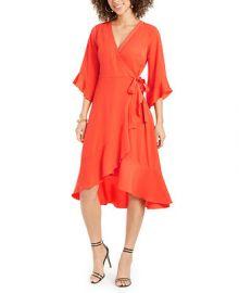 Thalia Sodi Ruffled Wrap Dress  Created for Macy s   Reviews - Dresses - Women - Macy s at Macys