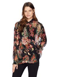 The Kooples Floral Lurex Shirt at Amazon