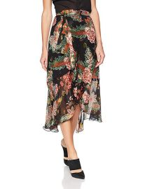 The Kooples Floral Lurex Skirt at Amazon