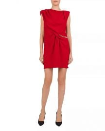 The Kooples Gathered Crepe  amp  Chain Trim Dress Women - Bloomingdale s at Bloomingdales