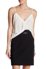 The Kooples Lace Trim Cr  pe de Chine Camisole   Nordstrom at Nordstrom