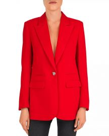 The Kooples Single Heart-Shaped Button Crepe Blazer Women - Bloomingdale s at Bloomingdales