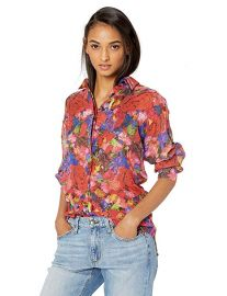 The Kooples Summer Night Floral Print Silk Shirt at Amazon