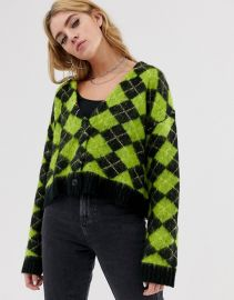 The Ragged Priest oversized cardigan in check   ASOS at Asos