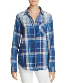 The Boyfriend Plaid Shirt by Current/Elliott at Bloomingdales