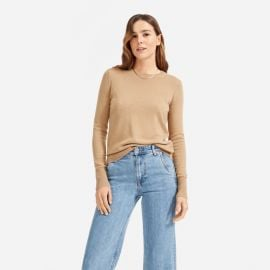 The Cashmere Crew in Camel at Everlane