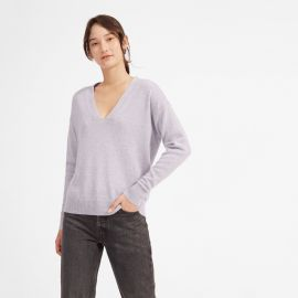 The Cashmere Oversized V-Neck by Everlane at Everlane