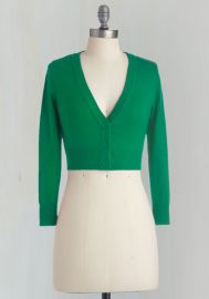 The Dream of the Crop Cardigan in Kelly Green at ModCloth