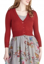 The Dream of the Crop Cardigan in Red at ModCloth