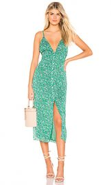 The East Order Gizele Midi Dress in Peppermint Leaf from Revolve com at Revolve