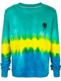 The Elder Statesman tie-dye palm tree cashmere jumper tie-dye palm tree cashmere jumper at Farfetch