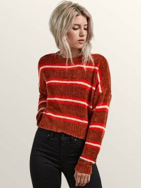 The Favorite Cropped Crew Neck Sweater by Volcom at Amazon
