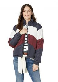 The Fifth Label  Atom Casual Graphic Stripe Puff Down Jacket at Amazon