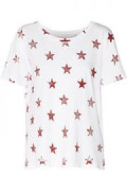 The Freshman distressed printed cotton-jersey T-shirt at The Outnet