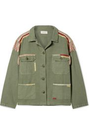 The Great   The Sergeant embroidered cotton-canvas jacket at Net A Porter