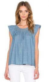 The Great Fultter Sleeve top in Sky Wash from Revolve com at Revolve