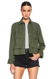 The Great Swingy Army Jacket in Beat Up Army   FWRD at Forward
